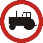 Znak B-6 Zakaz wjazdu ciągników rolniczych - drogowy zakazu