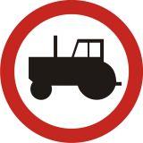 Znak B-6 Zakaz wjazdu ciągników rolniczych - drogowy zakazu - Znaki zakazu – znaki drogowe, cz. II