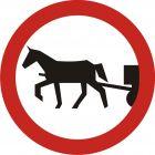 Znak B-8 Zakaz wjazdu pojazdów zaprzęgowych - drogowy zakazu