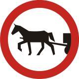 Znak B-8 Zakaz wjazdu pojazdów zaprzęgowych - drogowy zakazu - Zakaz wjazdu dla różnych pojazdów