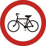 Znak B-9 Zakaz wjazdu rowerów - drogowy zakazu - Zakaz wjazdu dla różnych pojazdów