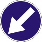 Znak C-10 Nakaz jazdy z lewej strony znaku - drogowy nakazu