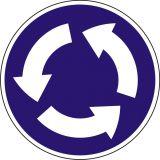 Znak C-12 Ruch okrężny - drogowy nakazu - Wysokość umieszczania znaków drogowych