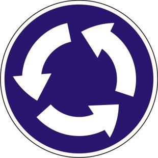 Znak C-12 Ruch okrężny - drogowy nakazu
