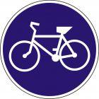 Znak C-13 Droga dla rowerów - drogowy nakazu
