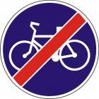 Znak C-13a Koniec drogi dla rowerów - drogowy nakazu