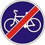 Znak C-13a Koniec drogi dla rowerów - drogowy nakazu - Drogi rowerowe i znaki dla rowerzystów