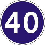 Znak C-14 Prędkość minimalna - drogowy nakazu - Prędkość minimalna