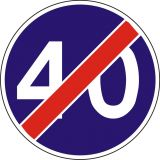 Znak C-15 Koniec prędkości minimalnej - drogowy nakazu - Prędkość minimalna