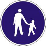 Znak C-16 Droga dla pieszych - drogowy nakazu - Normy dla znaków drogowych