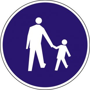 Znak C-16 Droga dla pieszych - drogowy nakazu