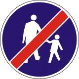 Znak C-16a Koniec drogi dla pieszych - drogowy nakazu - Drogi rowerowe i znaki dla rowerzystów