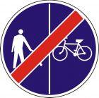 Znak C-16a/13a - pionowo - Koniec ruchu pieszych i rowerzystów - drogowy nakazu