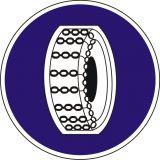 Znak C-18 Nakaz używania łańcuchów przeciwpoślizgowych - drogowy nakazu - Znaki nakazu – znaki drogowe, cz. III