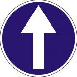 Znak C-5 Nakaz jazdy prosto - drogowy nakazu - Zakaz ruchu w obu kierunkach – znak B-1