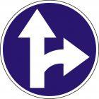 Znak C-6 Nakaz jazdy prosto lub w prawo - drogowy nakazu
