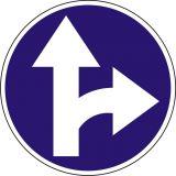 Znak C-6 Nakaz jazdy prosto lub w prawo - drogowy nakazu - Normy dla znaków drogowych