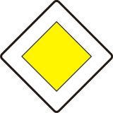 Znak D-1 Droga z pierwszeństwem - drogowy informacyjny - Zasady umieszczania znaków drogowych pionowych