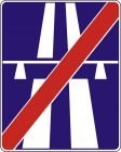 Znak D-10 Koniec autostrady - drogowa tablica informacyjna