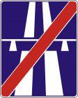Znak D-10 Koniec autostrady - drogowy informacyjny