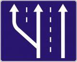Znak D-13a Początek pasa ruchu - drogowa tablica informacyjna - Znaki informacyjne – znaki drogowe, cz. IV