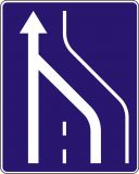 Znak D-14 Koniec pasa ruchu powolnego - drogowa tablica informacyjna - Znaki informacyjne – znaki drogowe, cz. IV