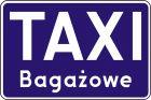 Znak D-19a Postój taxi taksówek bagażowych - drogowa tablica informacyjna