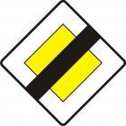 Znak D-2 Koniec drogi z pierwszeństwem - drogowa tablica informacyjna