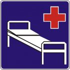 Znak D-21 Szpital - drogowa tablica informacyjna