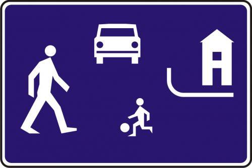 Znak D-40 Strefa zamieszkania - drogowa tablica informacyjna - Strefa zamieszkania – o czym informuje znak D-40?