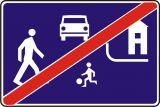 Znak D-41 Koniec strefy zamieszkania - drogowa tablica informacyjna - Droga wewnętrzna (znak D-46)