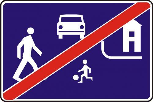 Znak D-41 Koniec strefy zamieszkania - drogowa tablica informacyjna - Strefa zamieszkania – o czym informuje znak D-40?
