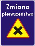 Znak D-48 Zmiana pierwszeństwa - drogowa tablica informacyjna - Wypożyczalnia znaków drogowych: jakie są ceny i jak działa wynajem? Kto może skorzystać z usługi?