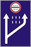 Znak D-49 Pobór opłat - drogowa tablica informacyjna - Znaki informacyjne – znaki drogowe, cz. IV