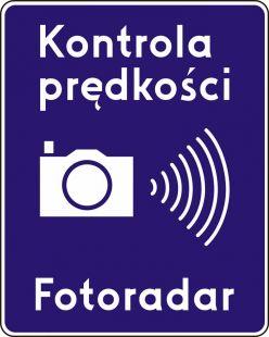 Znak D-51 Automatyczna kontrola prędkości - drogowy informacyjny