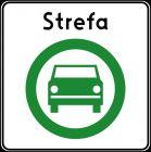Znak D-54 Strefa czystego transportu - drogowa tablica informacyjna