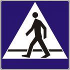 Znak D-6 Przejście dla pieszych - drogowa tablica informacyjna