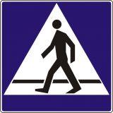 Znak D-6 Przejście dla pieszych - drogowa tablica informacyjna - Widoczność znaków drogowych pionowych