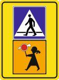 Znak D-6 Przejście dla pieszych - drogowa tablica informacyjna T-27 Uwaga dzieci! - Bezpieczne przejście dla pieszych – jak należy się zachować na zebrze?