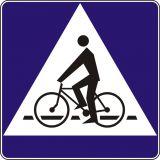 Znak D-6a Pierwszeństwo dla rowerzystów - drogowa tablica informacyjna - Widoczność znaków drogowych pionowych