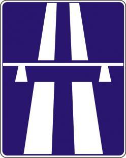 Znak D-9 Autostrada - drogowy informacyjny