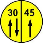 Znak drogowy wojskowy W-2 Klasa obciążenia mostu o ruchu dwukierunkowym