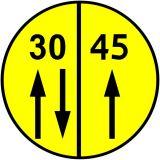 Znak drogowy wojskowy W-2 Klasa obciążenia mostu o ruchu dwukierunkowym - Znaki dla kierujących pojazdami wojskowymi