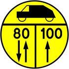 Znak drogowy wojskowy W-4 Klasa obciążenia mostu o ruchu dwukierunkowym dla pojazdów kołowych