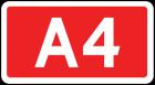 Znak E-15c Tablica numeru autostrady - drogowy kierunku miejscowości
