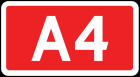Tablica numeru autostrady