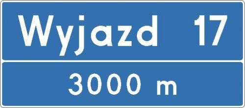 Znak E-20 Tablica węzła drogowego na autostradzie - drogowy kierunku miejscowości - Znaki kierunku i miejscowości – znaki drogowe, cz. VI