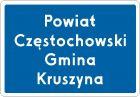 Znak F-3a Znak wjazdu do województwa, powiatu, gminy - drogowy uzupełniający