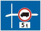 Znak F-6 Uprzedzenie o znaku za skrzyżowaniem - drogowy uzupełniający - Zakaz ruchu w obu kierunkach – znak B-1