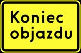 Znak F-9f Kierunek ruchu objazdu opisany na znaku - drogowy uzupełniający - Urządzenia BRD do zabezpieczania robót drogowych